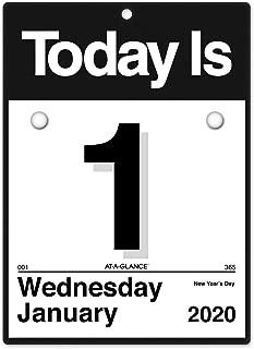 AT-A-GLANCE 2020 Daily Wall Calendar Refill, 6