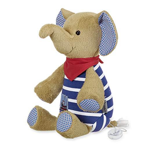 aus über 100 Melodien wählen - Sterntaler Baby Spieluhr L Elefant Erwin - 6021730 - Melodiewahl durch individuelles Spielwerk (* Melodie Sandmann lieber Sandmann (Ost Sandmännchen))