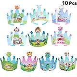 Toyvian 10 unids cumpleaños niños Casquillo de la Corona Animales de Dibujos...