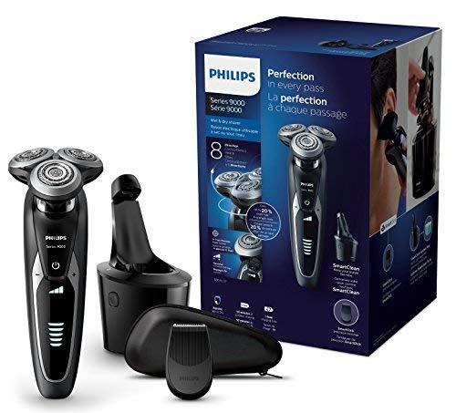 Philips S9531/26 Elektrischer Nass-und Trockenrasierer Series 9000 (mit V-Track-Pro-Klingen, SmartClean Reinigungsstation, Präzisionstrimmer)