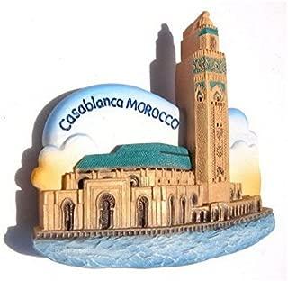 Hassan II Mosque Casablanca MOROCCO Souvenir Fridge Magnet Toy Set 3D Resin Collection