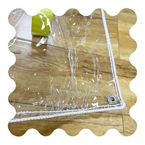 Lona MYAN Impermeable, Toldo Transparente PVC Vinilo Ligero Resistente A La Intemperie Cubrir para Kiosko Pérgola Balcón Planta (Color : Clear, Size : 2.3x6m/7.5x19.7ft)