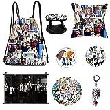 Greys Anatomy Merchandise,Drawstring Bag,Pillowcase,Keychain,Stickers,Brooch,Phone Holder,Poster (A)