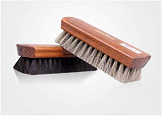 JTKDL Horsehair Shoe Brush, Shoe Shine Brushes, Horse Cleaning Polishing Kit Horsehair Shoes Polish Brushes Care Clean Applicators