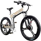 Bicicletas Eléctricas, Mini bicicleta eléctrica, con 400W Motor 26 '' plegables Frenos batería de litio de montaña bicicleta eléctrica Ocultos extraíble de doble disco de bici eléctrica for adultos un