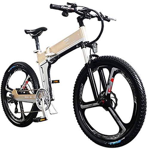 Bicicletas Eléctricas, Mini bicicleta eléctrica, con 400W Motor 26 '' plegables Frenos...