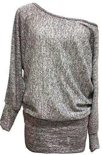 Emma & Giovanni - Sweatshirt - Pullover - Damen (XL/XXL (42-44), Grau)