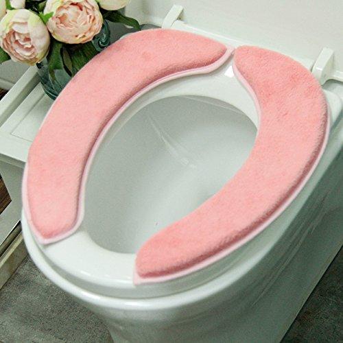 gh-impermeabile Abattant de Cabinet avec eau lavable coussin pour Coral laine éponge Epaississant (Abattant de Cabinet E