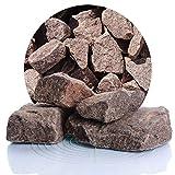 Schicker Mineral Granit Gabionensteine rot 25 kg, Bruchsteine in verschiedenen Körnnungen, Steine als Füllmaterial für Ihre Gabionen, zur Gartendeko (60-180 mm)