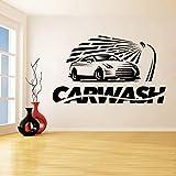 Vinilo adhesivo para pared Lavado de coches Servicio de coche Servicio de lavado de coches Logotipo de coche Patrón Foto