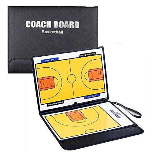 Lavagna tattica magnetica BASKET pallacanestro coach schemi gioco eco pelle NERA