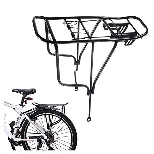 SXCXYG Portabultos Bicicleta Posterior de la Bicicleta en Rack de Acero Carrier Tija de sillín Montaje del Asiento Duradero Poste del Asiento Portaequipajes para Bicicletas (Color : Black)