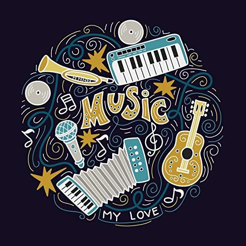 Music My Love: Manuscript Paper for Kids, Blank Sheet Music (Musicians Notebook)