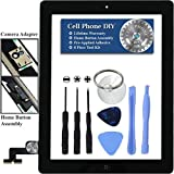 Black iPad 2 Digitizer Replacement Screen Front Touch Glass Assembly Replacement - Includes