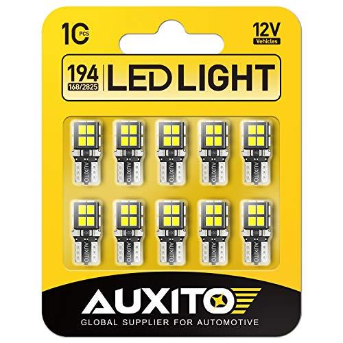 AUXITO 194 LED Light Bulb 6000K White 168 2825 W5W T10 Wedge 14-SMD LED...