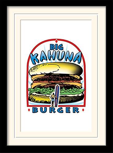 Pulp Fiction (Big Kahuna Burger 30 x 40 cm Montato e incorniciato, 16 x 12 Inches