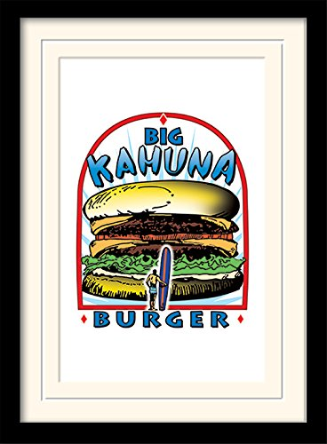 Pyramid International Pulp Fiction (Big Kahuna Burger) 30x40 cm montiert und gerahmt, Mounted 250GSM PAPERWRAP MDF, Mehrfarbig, 44 x 33 x 4 cm