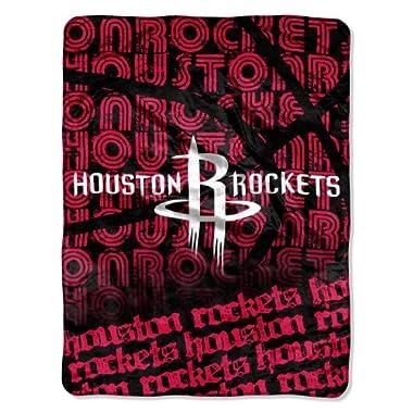 Officially Licensed NBA Houston Rockets Redux Micro Raschel Throw Blanket, 46  x 60