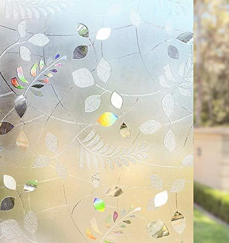 LMKJ 3D frosted window self-adhesive film electrostatic sticker, opaque privacy protection film vinyl window sticker glass film A92 30x200cm