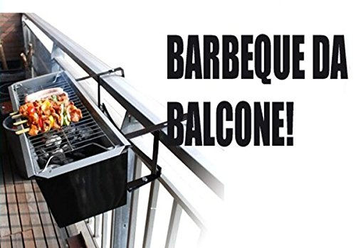 TRADER FORNACELLA Barbecue da Balcone per ARROSTICINI 61x14cm
