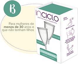 Coletor Menstrual, Inciclo, Transparente, Modelo B, pacote