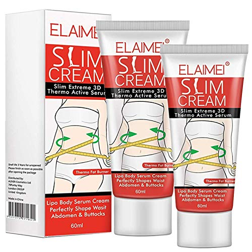 Slimming Hot Cream 2 Pack, Natural Slim Firming Body Cream, Fat Burner Hot Sweat Cream - Slimming Cream for Waist, Belly, Buttocks and Thighs.