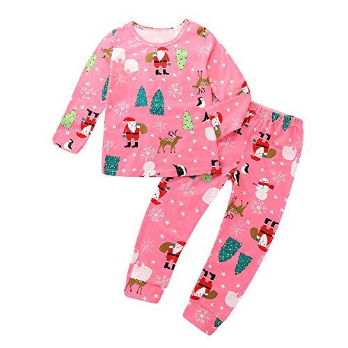 GZQ Pijama para niñas, Ropa para Dormir de la Navidad, Ropa Invierno Camisas y Pantalones (100 cm)