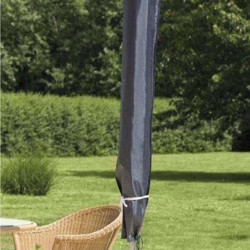Sonnenschirm Schutzhülle Polyester grau Ø2-4m Schutzhülle Schirmhaube Abdeckung
