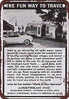 ヴィンテージティンサイン、1963年エアストリームトレーラーの外観を再現-材料鉄のポスター絵画ティンサインカフェバーパブホームビールの装飾工芸品のヴィンテージの壁の装飾