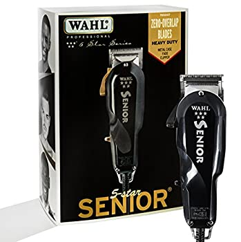 Wahl Professional 5 Star Senior Clipper for on Scalp Tapering and Fading for Professional Barbers and Stylists Model 8545 Black 1 Count