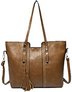 VogueZone009 Women's Zippers Pu Tote Bags Casual Crossbody Bags,CCABO210501