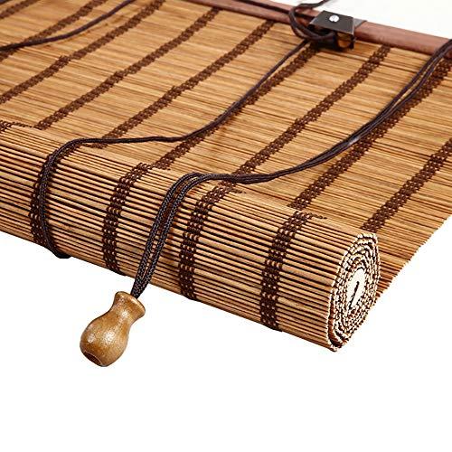 FF Tende a Rullo 50% di oscuranti in bambù avvolgibili per finestre con Ganci, tendalino per Gazebo, Tendine Parasole per divisorio per Sala da tè, Ampia 85/105/125/145 cm (Size : 125×200cm)