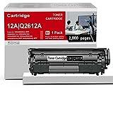 Compatible 1 Pack 12A   Q2612A Toner Cartridge Black Replacement for HP Laserjet 1020(Q5911A) 1022(Q5912A) 1022n(Q5913A) 1022nw(Q5914A) 1010(Q2640A) 1012(Q2641A) 1015(Q2642A) Printer Toner Cartridge.