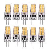 Perezy 10 Piezas G4 Bombilla LED AC / DC12V-24V 3W LED G4 Luz 20LED 360 áNgulo de Haz de Luz 2835SMD Reemplazo de LáMpara HalóGena de 30W, Blanco CáLido