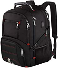 Extra Large Backpack,Travel Laptop Backpack TSA Friendly Durable Computer Backpack with USB Charging Port for Men&Women,Water-Resistant Big Business College School Bookbag Fits 17 Inch Laptop&Notebook