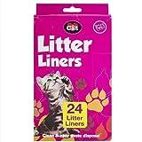 24 bolsas descartables perfumadas para piedras de arenero de gatos, color blanco y tamaño de 70cm x 30cm.