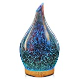 Best Essential Oil Nebulizers - 280ml Essential Oil Diffuser 3D Glass Aromatherapy Ultrasonic Review