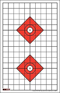 EZ2C Targets Style 13 (25 Pack) High Visibility Rifle Sight in Target with 1