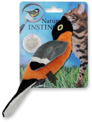 ALL FOR PAWS Natural Instincts - Katzenspielzeug Vogel - orange