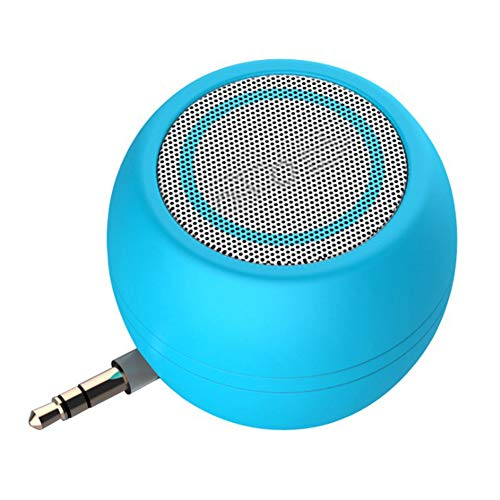 lujiaoshout Portable Mini-Lautsprecher Viermal des normalen Volume Plug & Play-Lautsprecher 3,5 mm Audio-Eingang Lautsprecher für Handys -Blue
