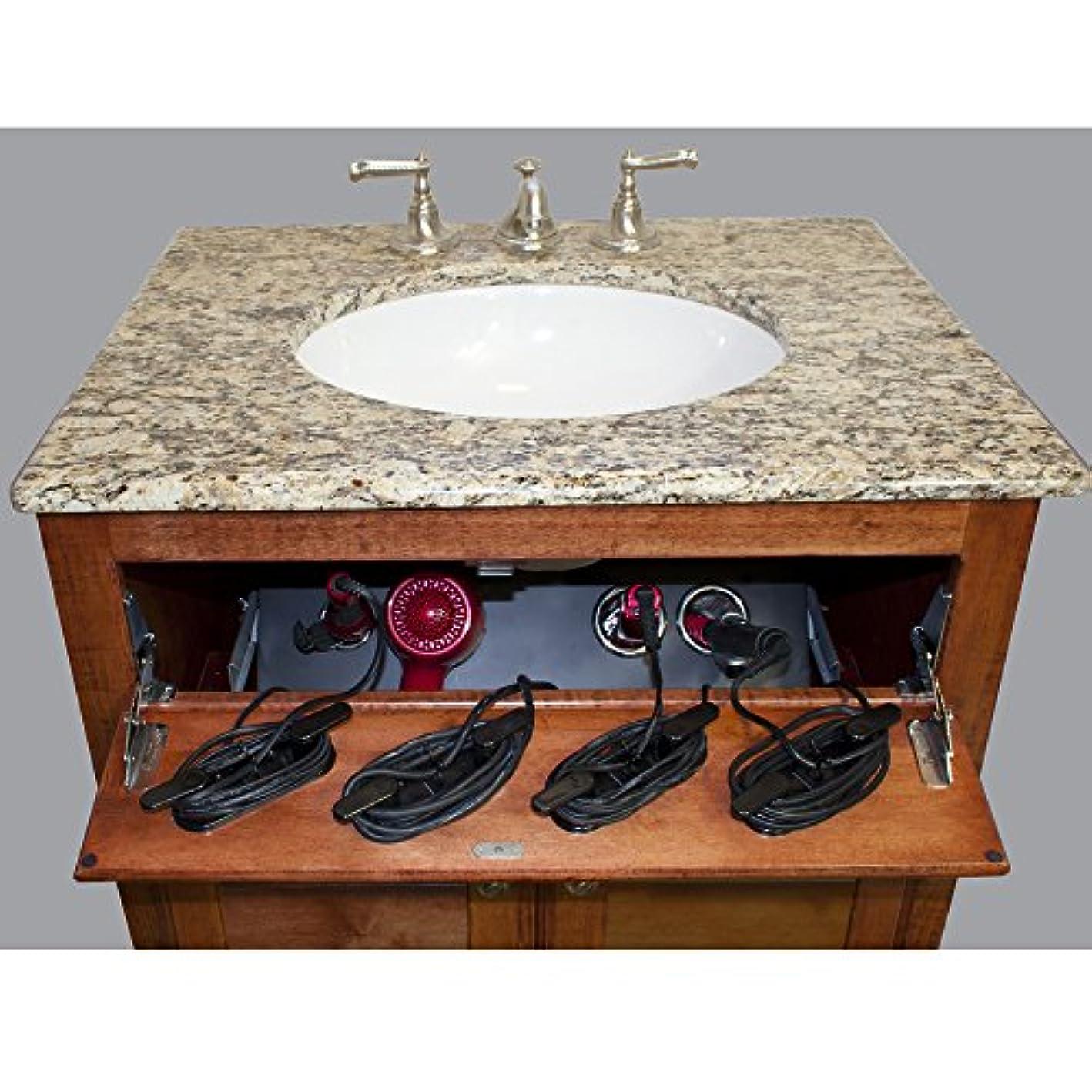POJJO - Vanity Valet Secret Plus - Curling Iron, Flat Iron, Hair Dryer Holder