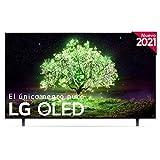 LG OLED OLED65A1-ALEXA 2021-Smart TV 4K UHD 164 cm (65') con Inteligencia Artificial, Procesador Inteligente α7 Gen4, Deep Learning, 100% HDR, Dolby ATMOS, HDMI 2.0, USB 2.0, Bluetooth 5.0, WiFi