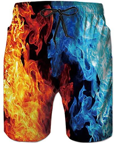 Goodstoworld Hombre Bañador Shorts 3D Playa Natacion Pantalon Corto Poliéster Secado Rápido Ligero Bermuda Moda Shorts 3XL