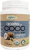 Enature Aceite de Coco Orgánico, Virgen, 1 L. El empaque puede variar