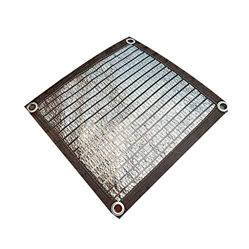 DHR-Shade net Sonnenschutz Segelpersenning Markisen Shelter 75% Reflective Aluminet Shade Net UV mit Tüllen, for Garten-Hof Balkon Dach Carport (Größe : 3x5m(9.8x16.4ft))