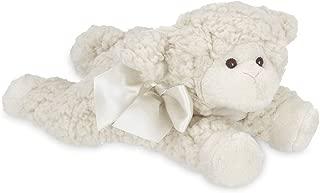 Bearington Baby Baa Plush Stuffed Animal Lamb with Rattle, 8 inches