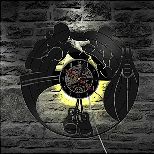 LWXJK Coche clásico Retro Vintage con Marca de Carretera, Reloj de Pared artístico, Coche Deportivo, Coche de Carreras, Disco de Vinilo, Reloj de Pared, Regalo para Amantes del Coche