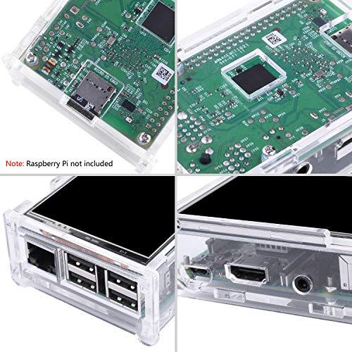 『Kuman Raspberry Pi ディスプレイ タッチスクリーン 3.5インチ ケース ヒートシンク Pi 3B 2B B A A B 用 SC11-JP』の2枚目の画像