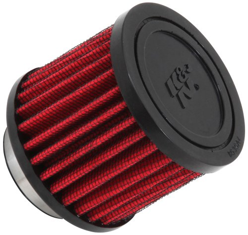 K&N 62-1450 Vent Air Filter / Breather: Vent Air Filter/ Breather; 1.5 in (38 mm) Flange ID; 2.5 in (64 mm) Height; 3 in (76 mm) Base; 3 in (76 mm) Top