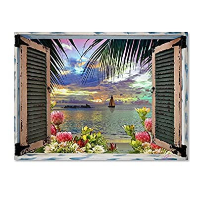 Trademark Fine Art Tropical Window to Paradise III by Leo Kelly from Trademark Fine Art